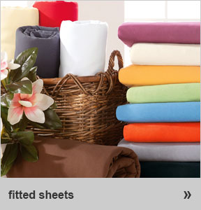 fitted sheets in many sizes & colours