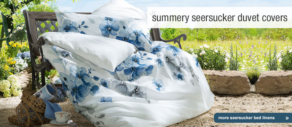 airy-light seersucker duvet cover sets for summer
