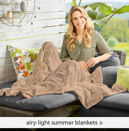 airy-light summer blankets
