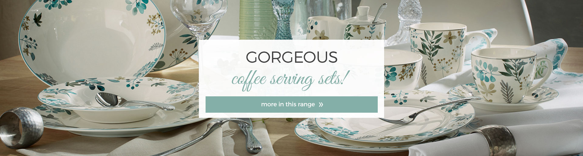 Gorgeous coffee serving sets