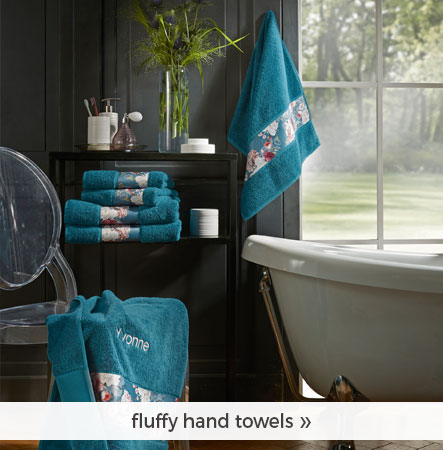fluffy hand towels