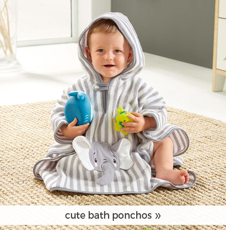 cute bath ponchos