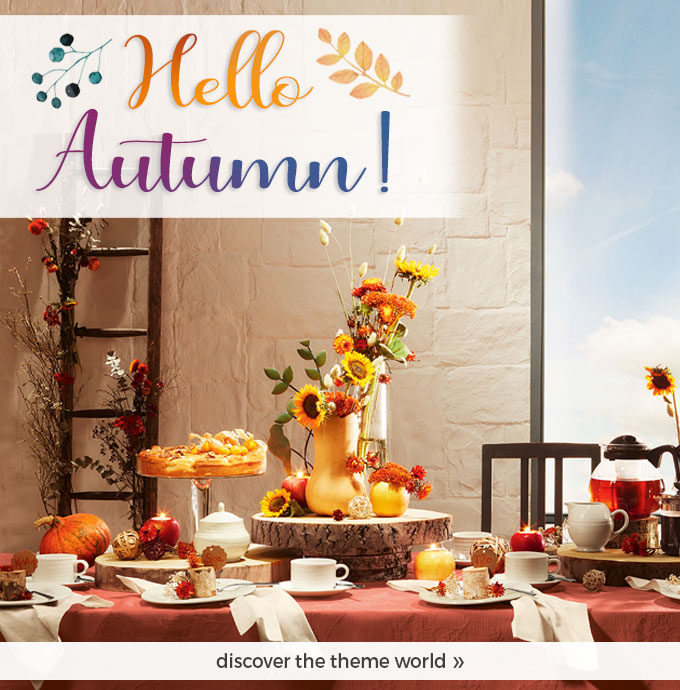 Hello Autumn - our new theme world!