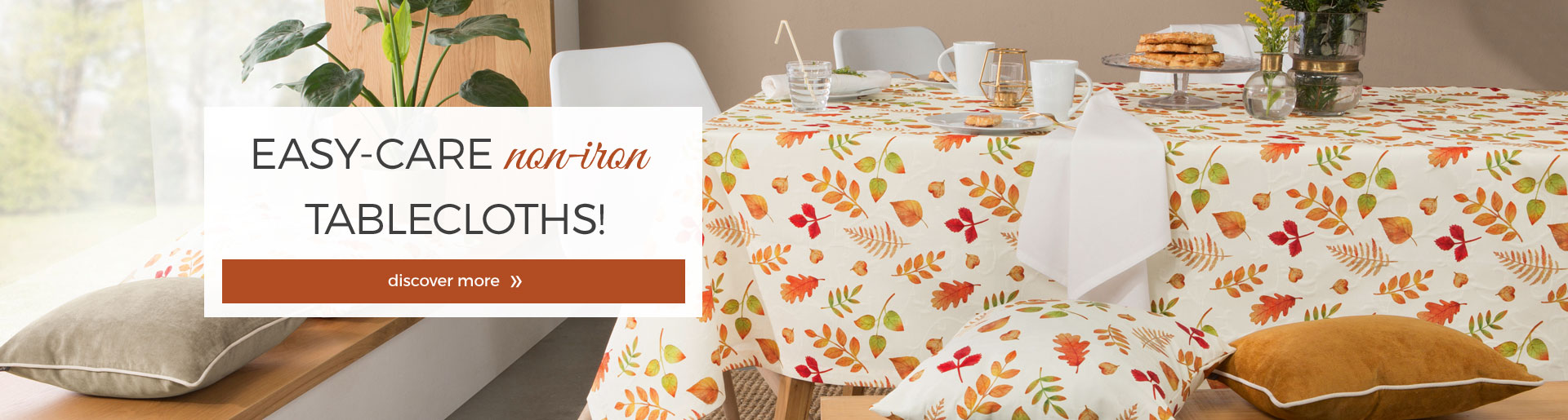 Easy care non-iron tableware