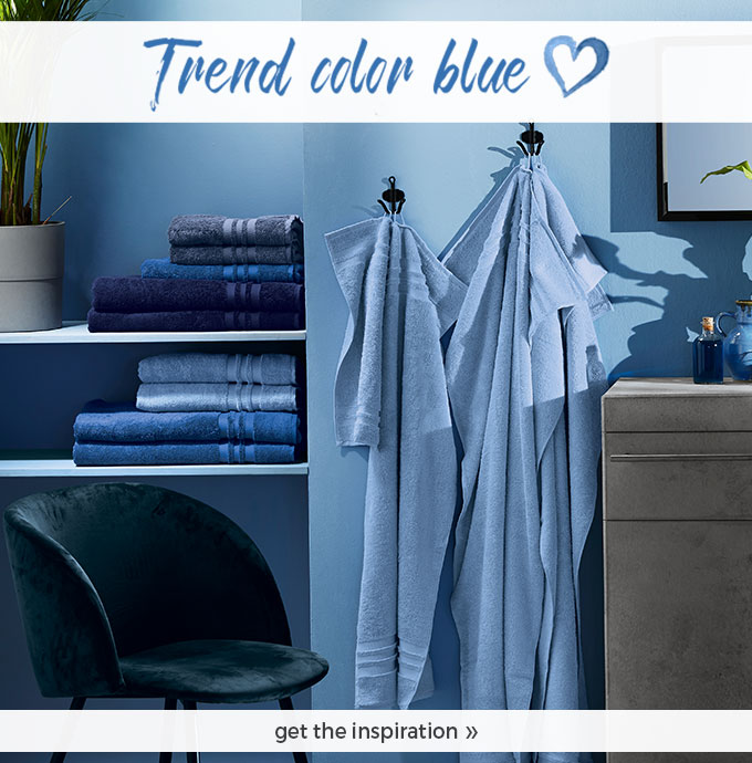 Our trend colour BLUE