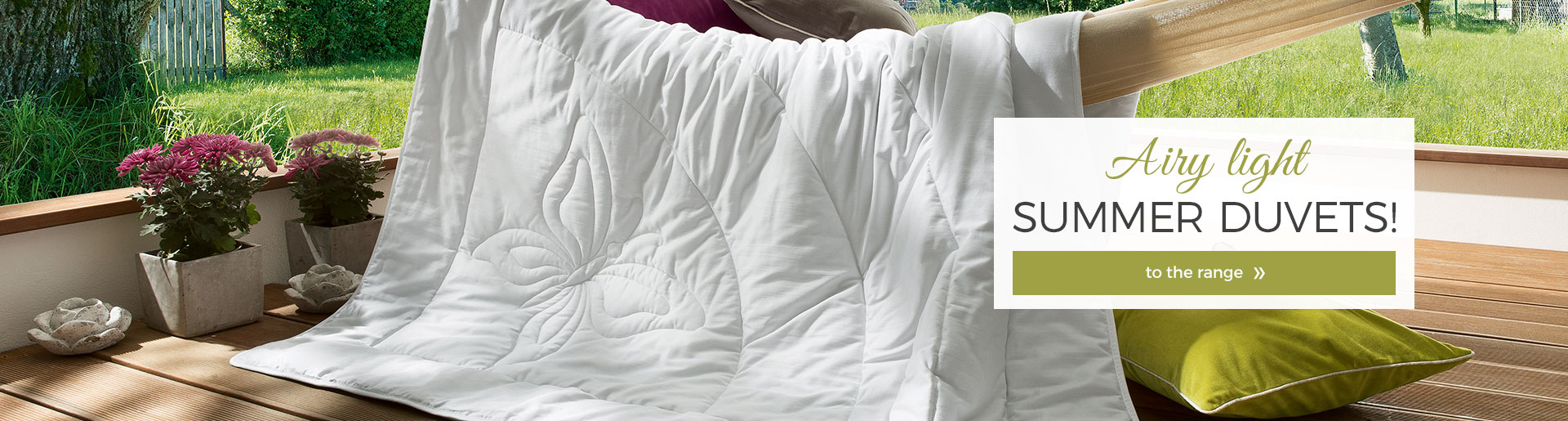 Airy light summer duvets!