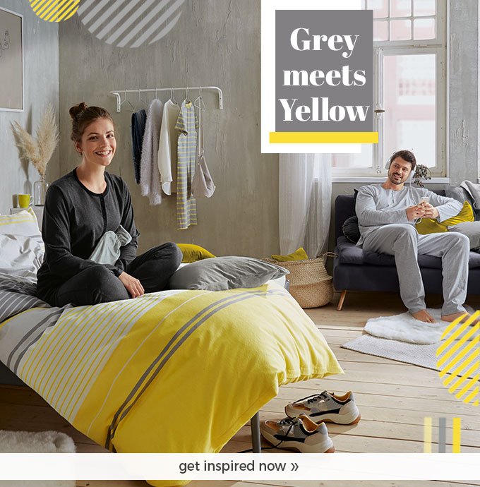Discover our new world - gray meets yellow!